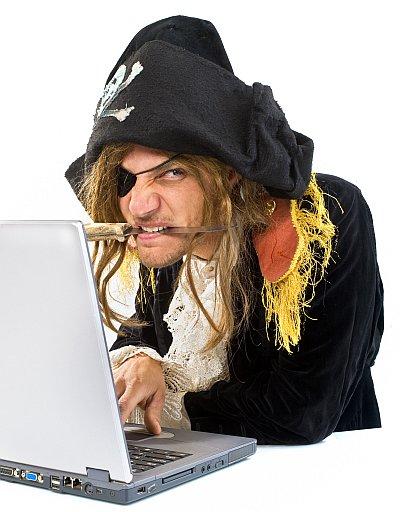 Pirate at laptop